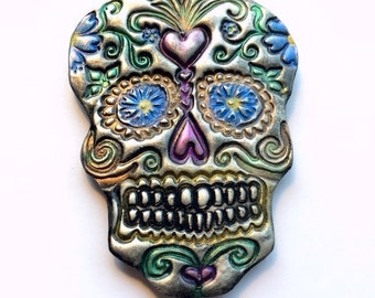 Sugar Skull Day of the Dead Handmade Ornament or Decoration