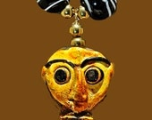 Balinese Face Pendant & Handsome Glass Beads