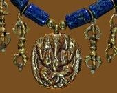 Ganesha, Dorje & Azurite/Malachite