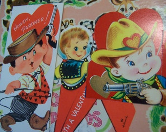 three darling vintage valentines