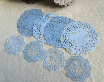 Paper Doilies...8 Piece Set of Very Sweet and Charming French Pastry and Sophia's Heart Paper Doilies Scrapbook Embellishments