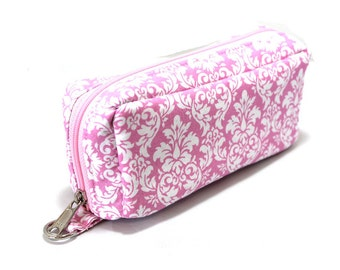Essential Oil Case Holds 10 Bottles Essential Oil Bag Pink and White Damask