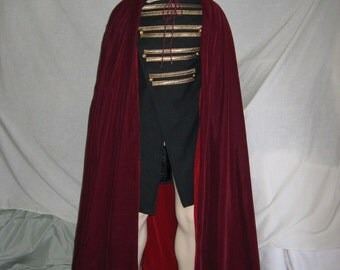 Custom made twilight velvet cape cloak with hood
