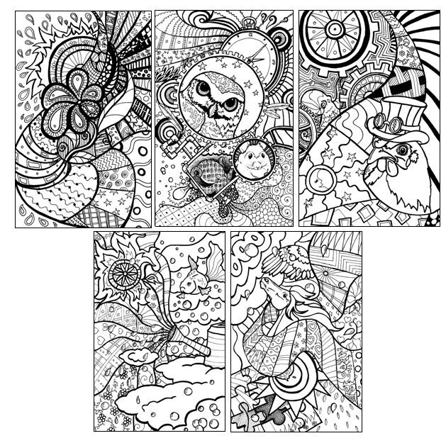 fine art coloring pages - assortment 1 fine art coloring pages by jen kroll