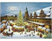 Advent Calendar Germany Christmas Market With DIY Dresden Trims  #2211