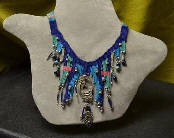 Blue Woven Necklace 789