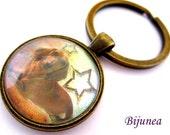 Teckel Dachshund dog keychain - Dog pet keychain - Animal dog pet keychain - Pet dog keychain  k110