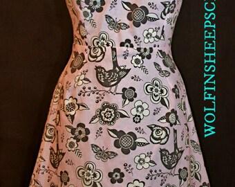 Cotton Keyhole Dress