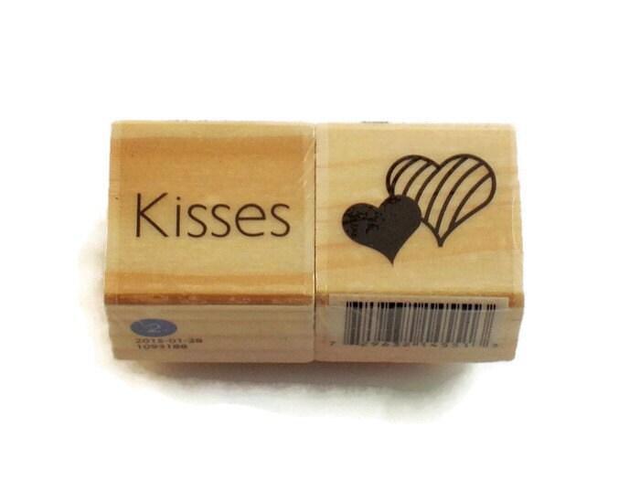Mini Rubber Stamp Set Kisses