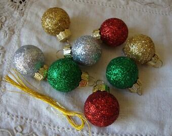mini glitter ornaments bulbs DIY Christmas mini ornaments mini tree crafts supplies embellishments glittered holiday crafting supply