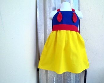 SNOW WHITE Dress/Costume/ Knot Dress