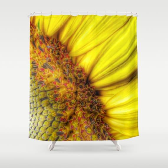 Sunflower Shower Curtain, Yellow Bathroom, Sunflower Home Decor, Whimsy Photo Shower Curtain, Nature Home Decor, Vibrant, Bold, Flower Decor