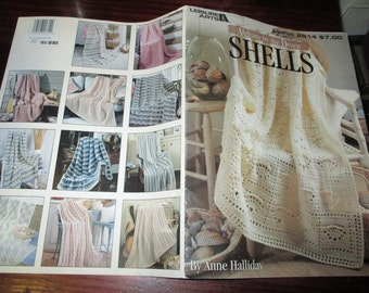 Afghan Crocheting Patterns Afghans by the Dozen Shells Leisure Arts 2814 Crochet Pattern Leaflet Anne Halliday
