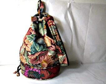 Drawstring Bag Fabric Bucket Bag Sack Bag One-of-a-Kind Bag