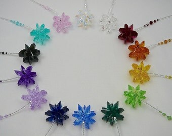"""Sparkly Crystal Sun Catcher, Swarovski Crystal Cluster Car Bling, Available in 14 Colors, Rearview Mirror Car Charm, Window Prism -""""STELLA"""""""