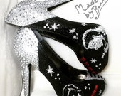 STAR WARS | Design for Heels  | Darth Vader | Han Solo | Rebel Alliance | Galactic Empire | Dark Side | Glitter & Crystal Rhinestones