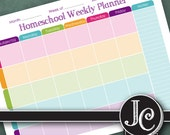 Homeschool Weekly Planner - Printable - Instant Download