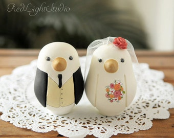 Cake Topper - Wedding Cake Topper - Medium Love birds