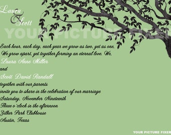 Wedding Invitations - Trees - several samples shown