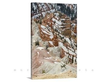 Utah Mountains, Landscape Art, Cedar Breaks Photo, Mountain Art, Giclee Canvas Print, Nature Photography, Vertical Art, Canvas Photo Print