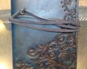 Elegant Scroll Genuine Leather Journal Cover