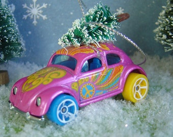 VW Love Bug Beetle car Christmas tree ornament