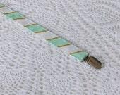 Mint Diagonal - SALE - Paci Clip