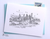 Melbourne, Australia - Asia/Pacific - City Skyline Series - Folded Cards (6)