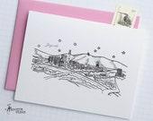 Zagreb, Croatia - Europe - City Skyline Series - Folded Cards (6)