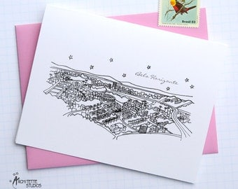 Belo Horizonte, Brazil - South America - City Skyline Series - Folded Cards (6)