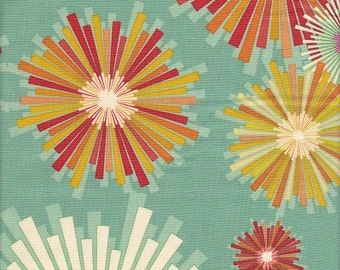 Andover Fabrics Frippery Starburst Flower in Aqua - Half Yard