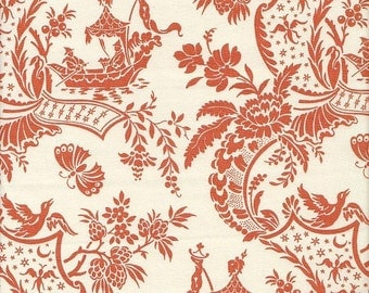 Anna Griffin Chinoiserie Toile in Orange - End of Bolt - 26 Inches Left
