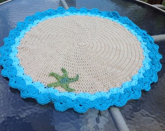 Baby beach blanket - for beach, carseat, stroller or photo prop