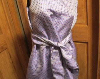 SALE - Purple Polka Dot A Line Tank Dress - S/M (4655)