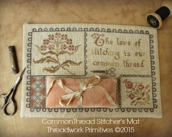 Primitive Cross Stitch Pattern - Common Thread Stitcher's Mat