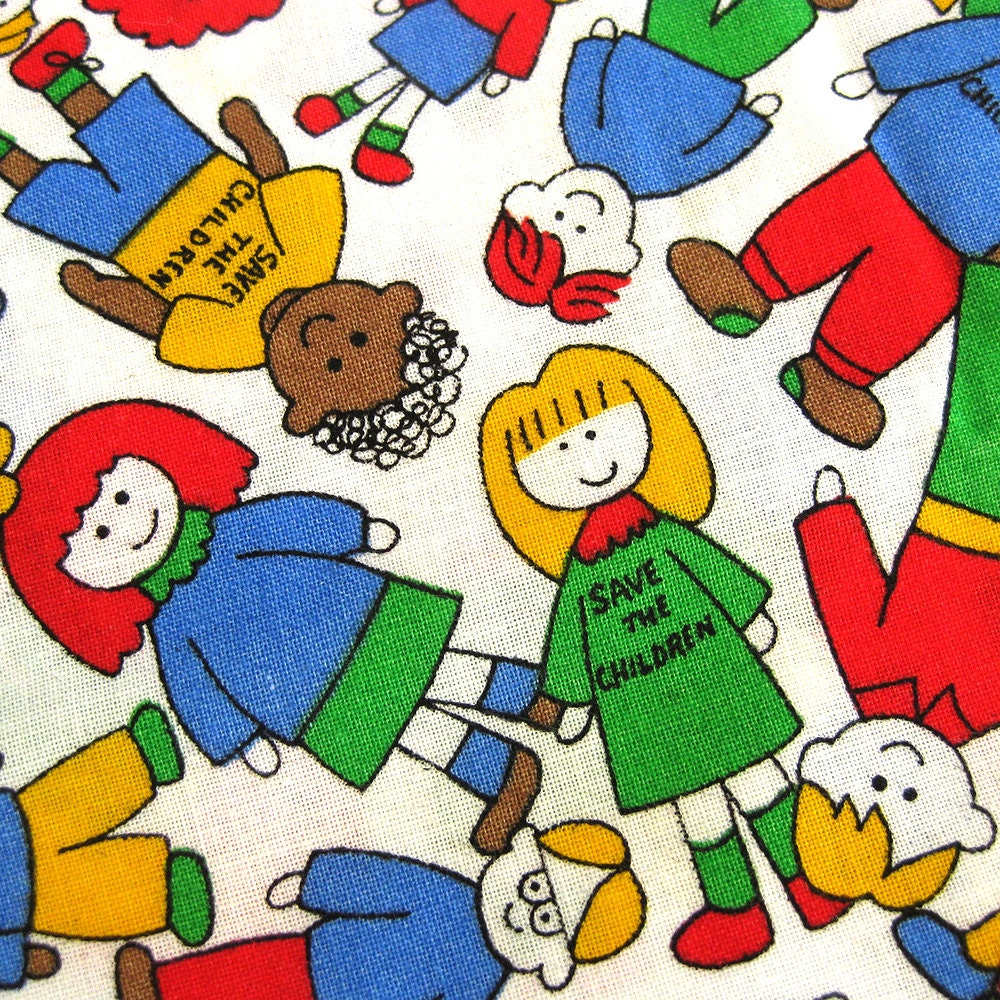 Save the children fabric cotton quilting weight yardage in for Cotton fabric for children s clothes