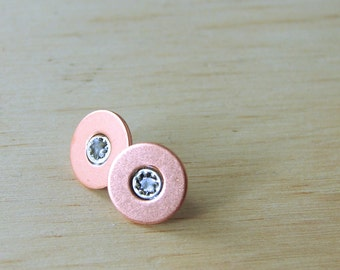 Copper Stud Earrings Hardware Jewelry