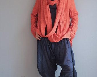 Love loop... thin linen/cotton / versatile jacket/ scarf (One size) Custom color
