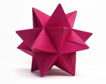 "Modular Origami Star Ball - Magenta - 4.5"""