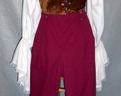 Ready to Wear - Ladies Steampunk  Pirate Renaissance Costume  Vest and Pants Large