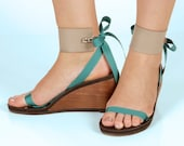 Taupe Vegan Leather Large Strap Accessory for Mohop Interchangeable Sandals