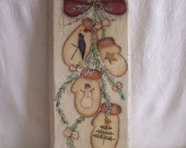 Winter, Christmas, Wall Hanging, Picture, Wood