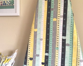 Ironing Board Cover - Rulers in Mint Green