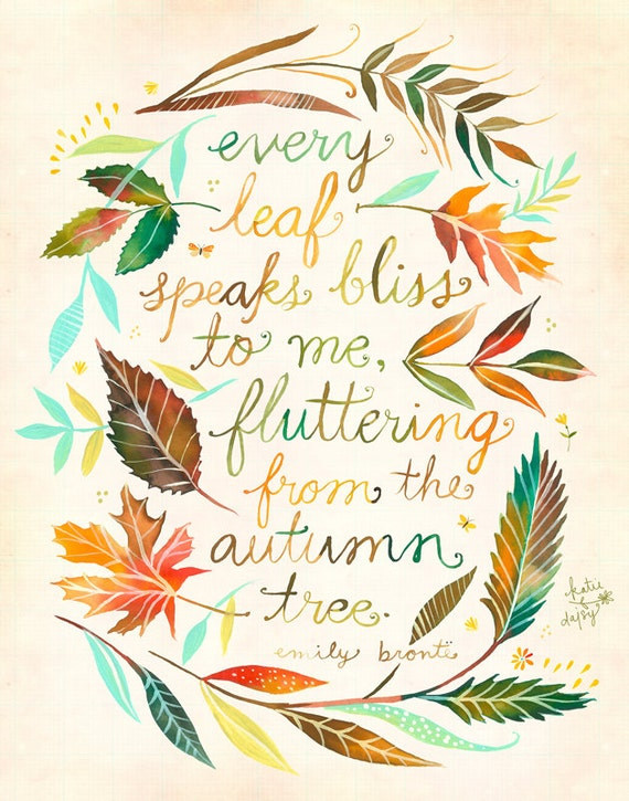 Fall Wall Art every leaf print fall wall art watercolor quote