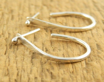 Post hoop earrings, drop hoops, sterling silver, two in one earrings, handmade sterling silver hoops, ready to ship.