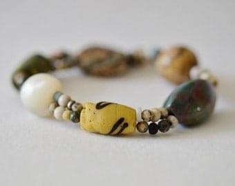 Antique Trade Bead Bracelet