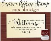 Calligraphy Handwriting Script Custom Return Address Stamp - Personalized SELF INKING Wedding Stationery Stamper - Style 1162K