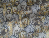 Jungle Animal Cotton Flannel Fabric in 2+ yards almost 3