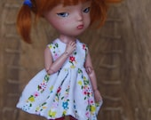 RESERVED flowers and stripes secretdoll person dress set