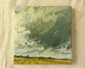 End of Summer Clouds | Original Oil Painting | 6 x 6
